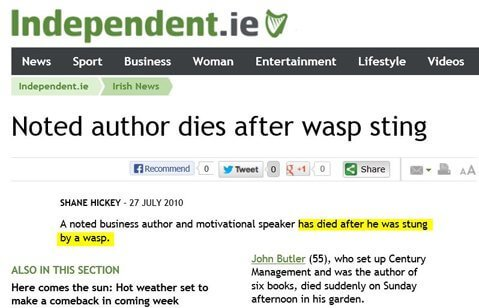Man-Dies-after-wasp-Sting-in-His-Garden