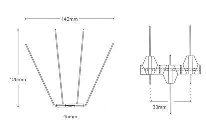 Bird spikes p20 Diagram