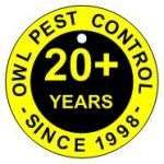 Owl Pest Control logo 20+ years established