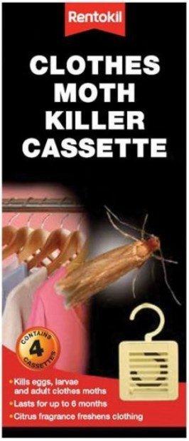 Clothes Moth Killer Cassettes - pack of 4 - Owl pest control Dublin