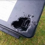 Rat chewed through PVC bait box - Owl pest control Dublin